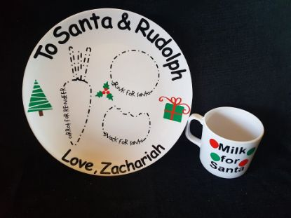 Picture of Personalized Christmas Plate & Cup