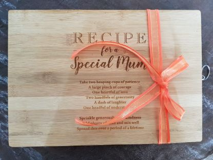Picture of Cutting Board - Recipe for a special mom