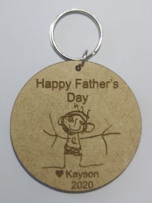 Picture of Father's Day Artwork Keyring