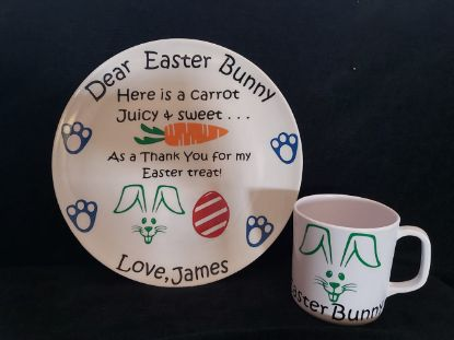 Picture of Personalized Easter Plate & Mug Combo